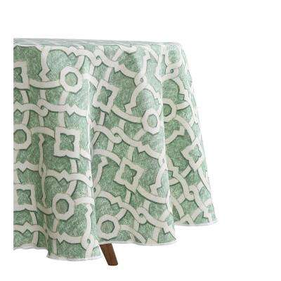 70 in. Round Waverly Lexie Indoor/Outdoor Tablecloth