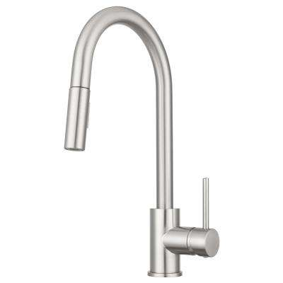 Bellevue Single-Handle Pull-Down Sprayer Kitchen Faucet with Multiple Spray Functions in Brushed Satin Nickel