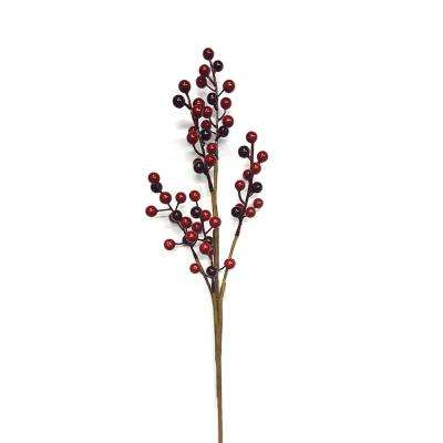 20 in. Decorative Spray-Berry