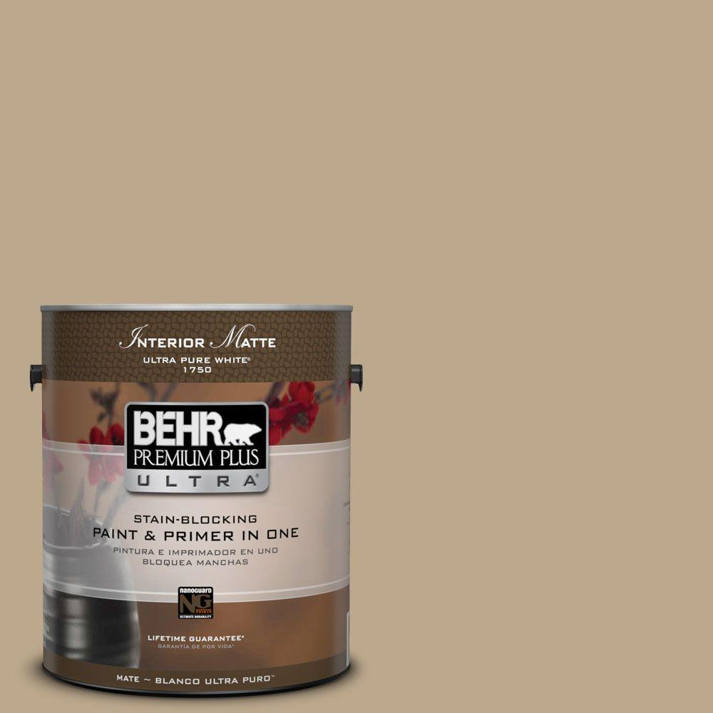 BEHR Premium Plus Ultra Home Decorators Collection 1 gal. #HDC-NT-16 Natural Chamois Flat/Matte Interior Paint