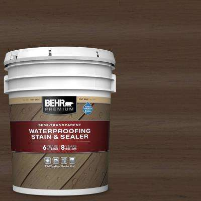 5 gal. #ST-111 Wood Chip Semi-Transparent Waterproofing Exterior Wood Stain and Sealer