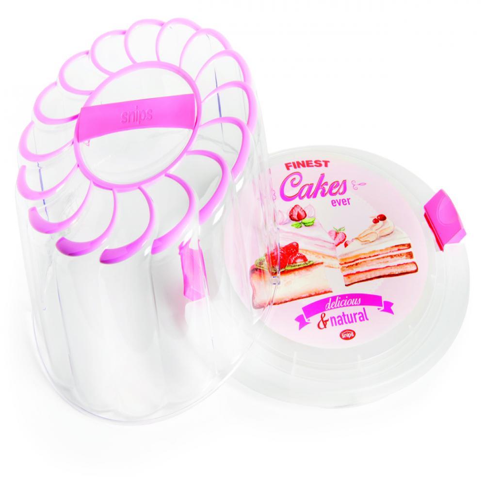 28 cm Pink Vintage Cake Holder/Carrier