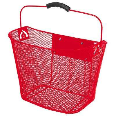 Quick Release Wire Basket in Red