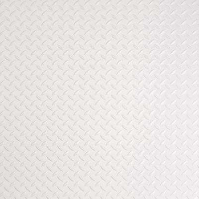 RaceDay 24 in. x 24 in. Peel and Stick Diamond Tread Absolute White Polyvinyl Tile (40 sq. ft. / case)