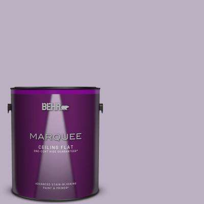 1 gal. #S100-3 Courtly Purple One-Coat Hide Ceiling Flat Interior Paint and Primer in One