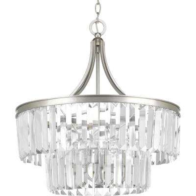 Glimmer Collection 5-Light Silver Ridge Pendant