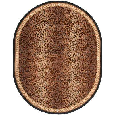 Chelsea Black/Brown 4 ft. 6 in. x 6 ft. 6 in. Oval Area Rug