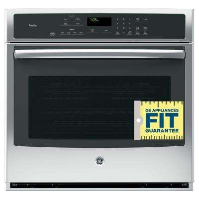 Profile 30 in. Single Electric Wall Oven with Convection Self-Cleaning in Stainless Steel