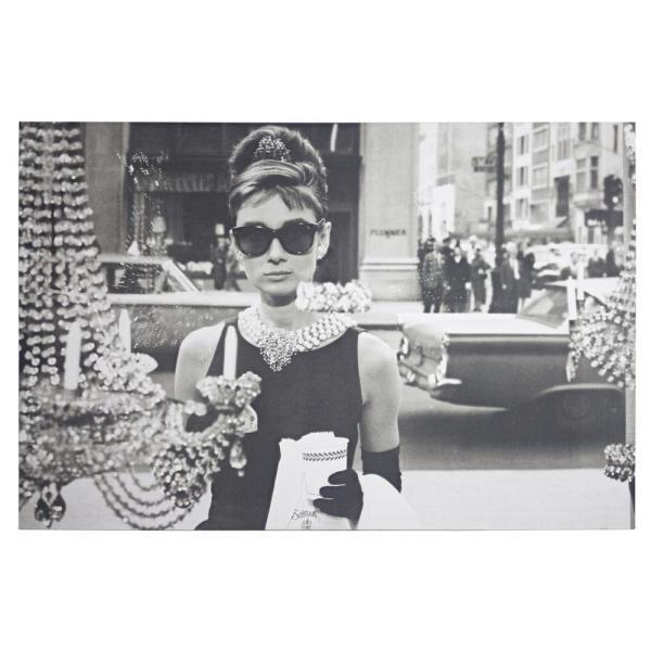 8188b67c5f42 American Art Decor Licensed Audrey Hepburn Breakfast at Tiffany's Wrapped  Canvas Wall Art