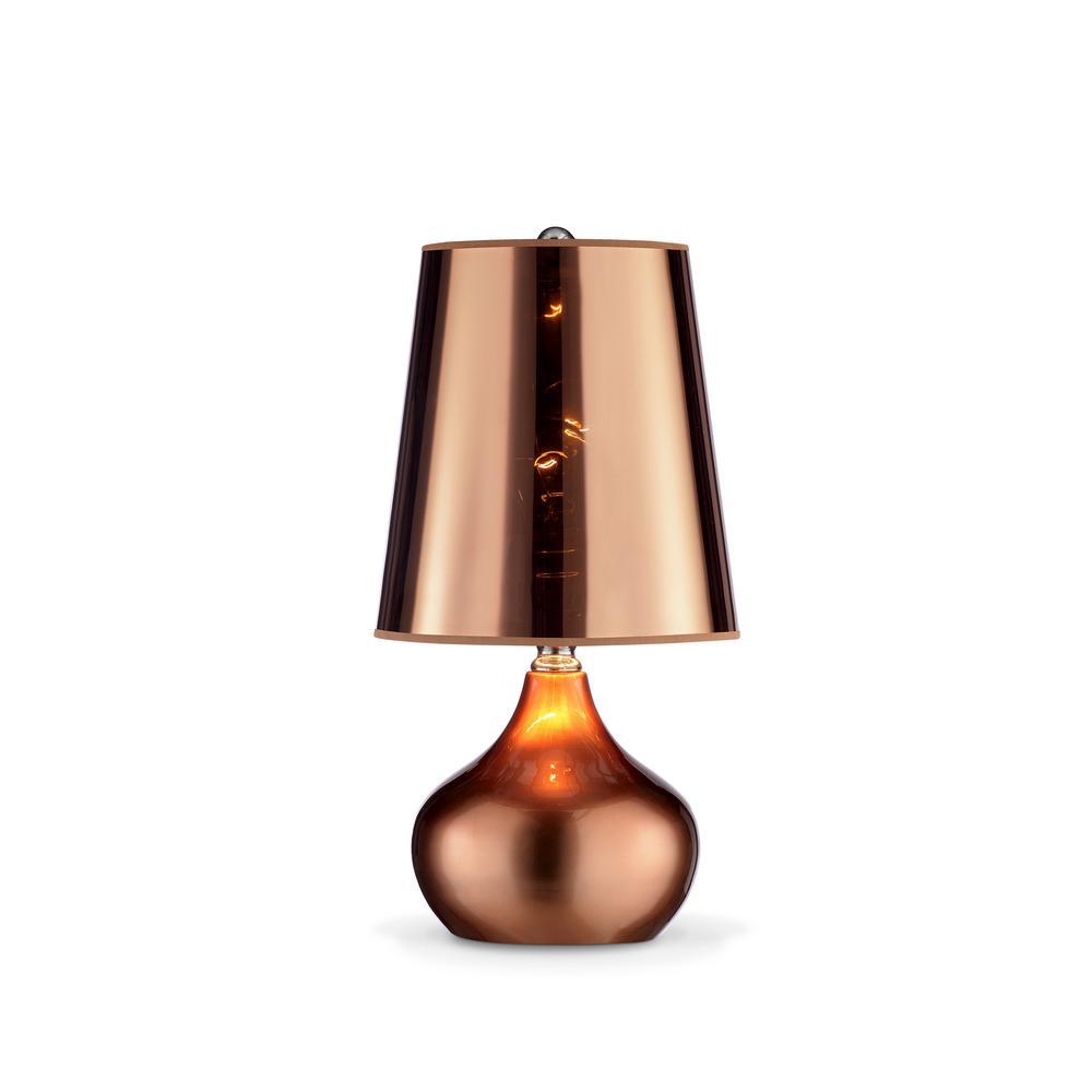 Er Metallic Rose Gold Table Lamp