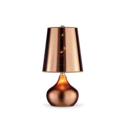 18 in. Luster Metallic Rose Gold Table Lamp
