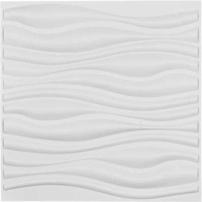 1 in. x 19-5/8 in. x 19-5/8 in. White PVC Leandros EnduraWall Decorative 3D Wall Panel