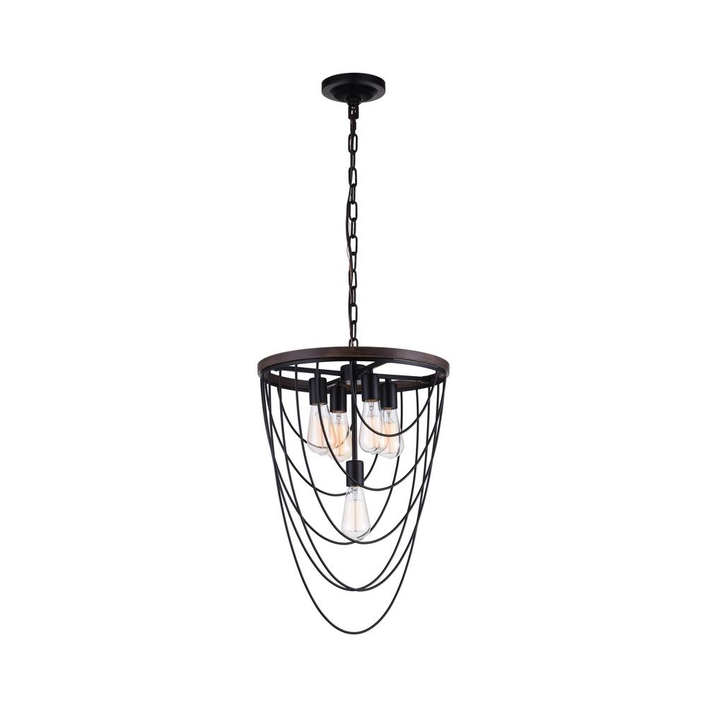 Gala 5-Light Black Chandelier