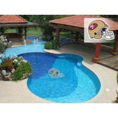 NFL San Francisco 49ers 29 in. x 29 in. Small Pool Graphic