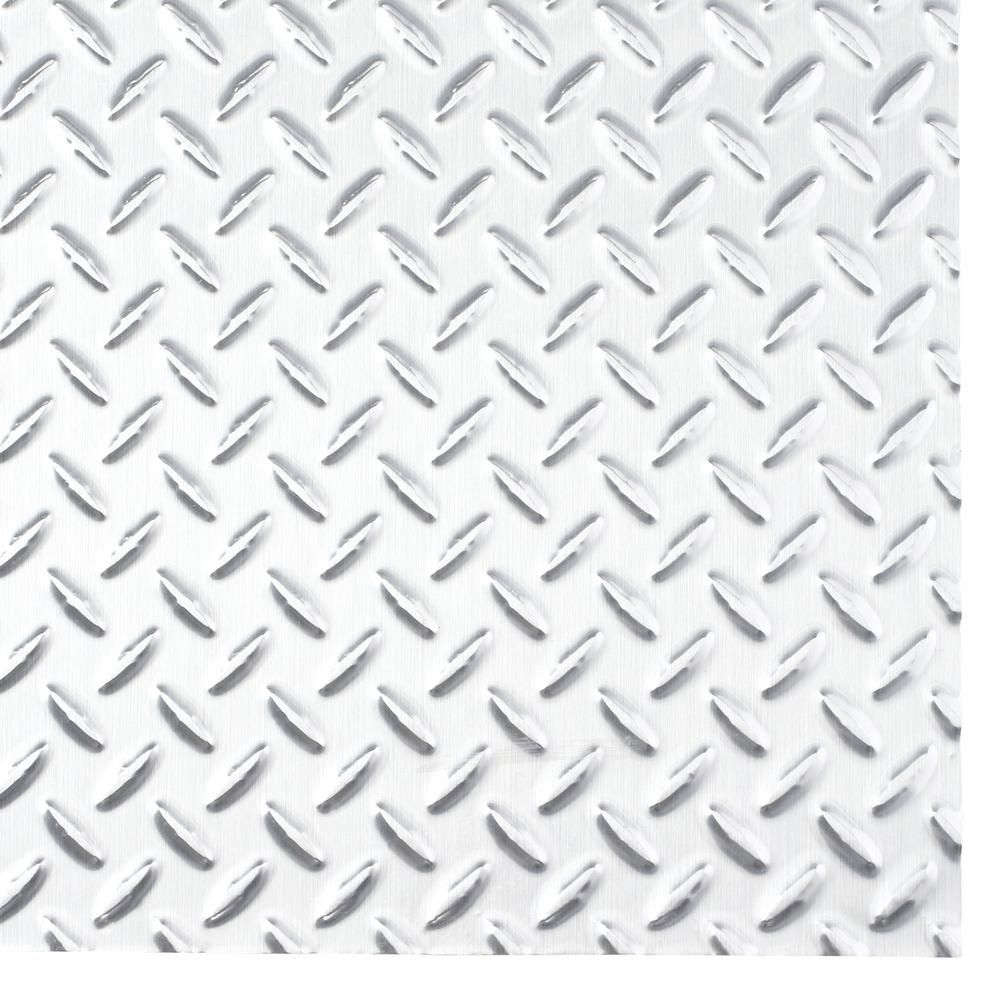 Fasade Diamond Plate 96 in. x 48 in. x 0.013 Decorative Vinyl Wall Panel in Brushed Aluminum was $182.56 now $113.76 (38.0% off)