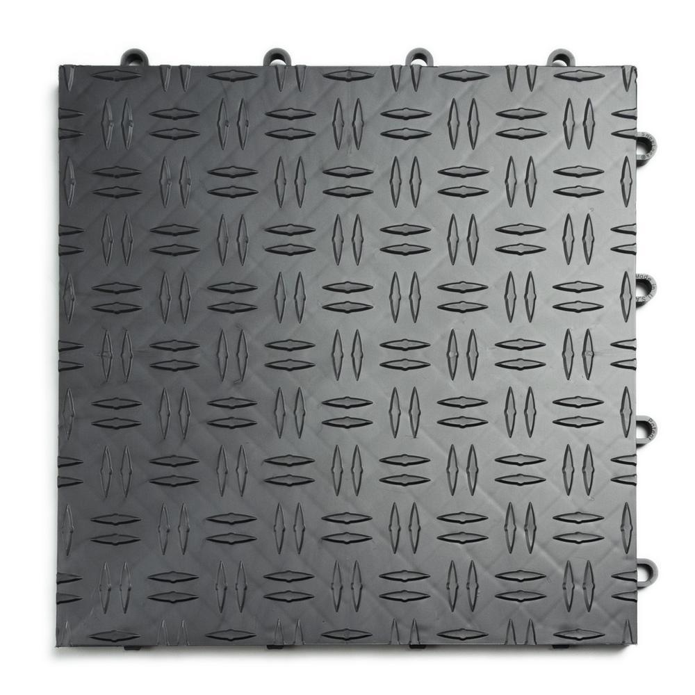 85daca8c1eb MotorDeck 12 in. x 12 in. Diamond Graphite Modular Tile Garage ...