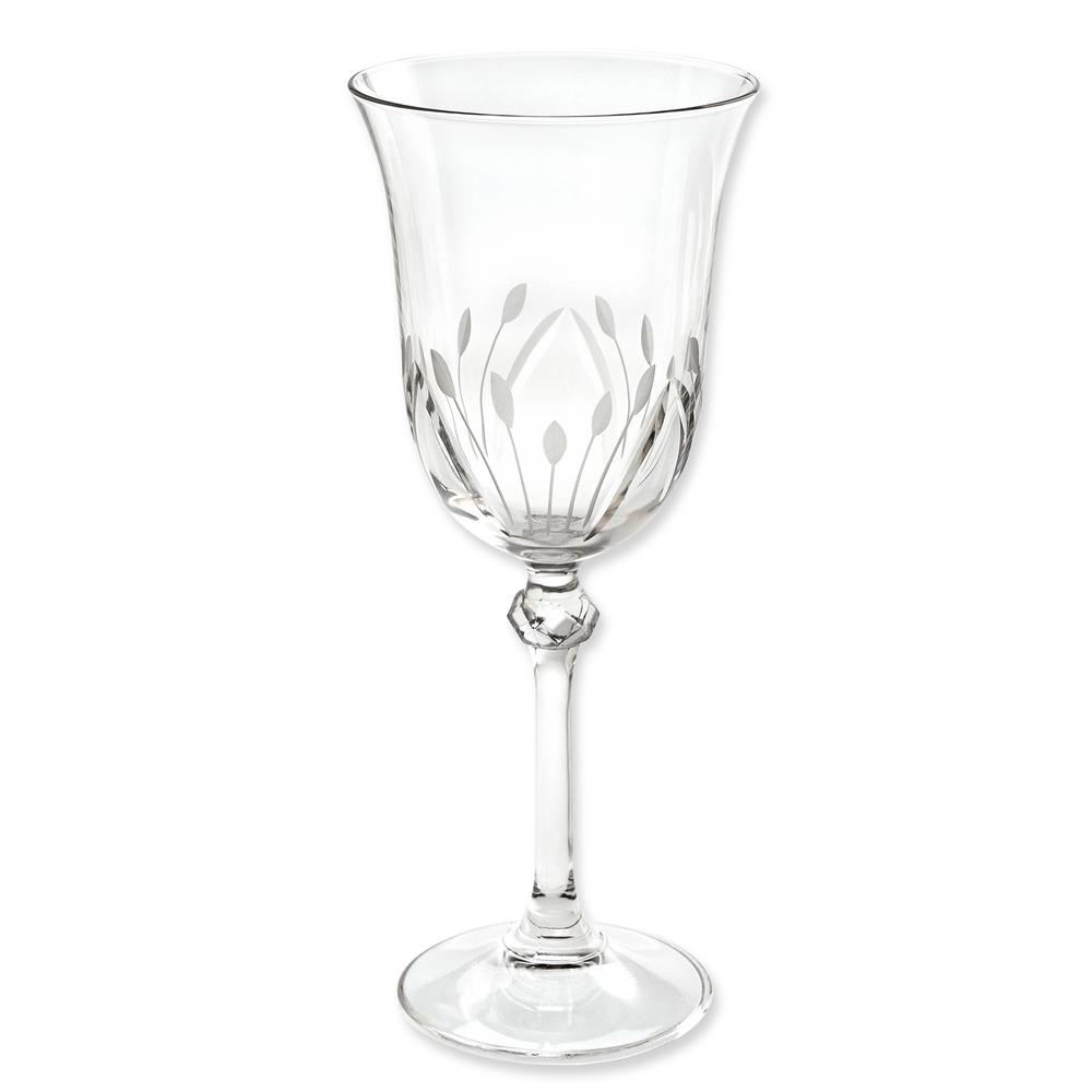 Lorren Home Trends Etched White Wine Goblets Set Of 6