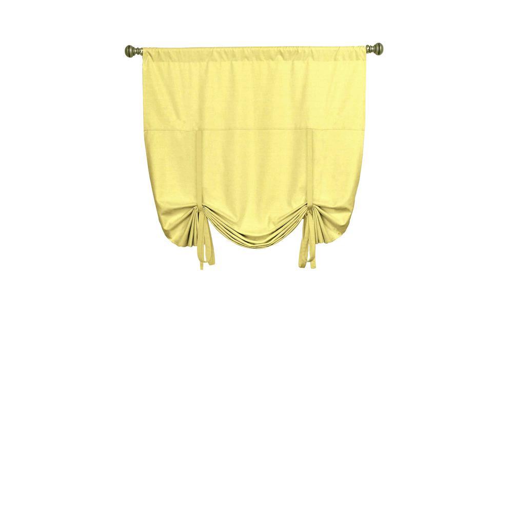 Kendall Blackout Window Curtain Panel in Lemon - 42 in. W x 63 in. L