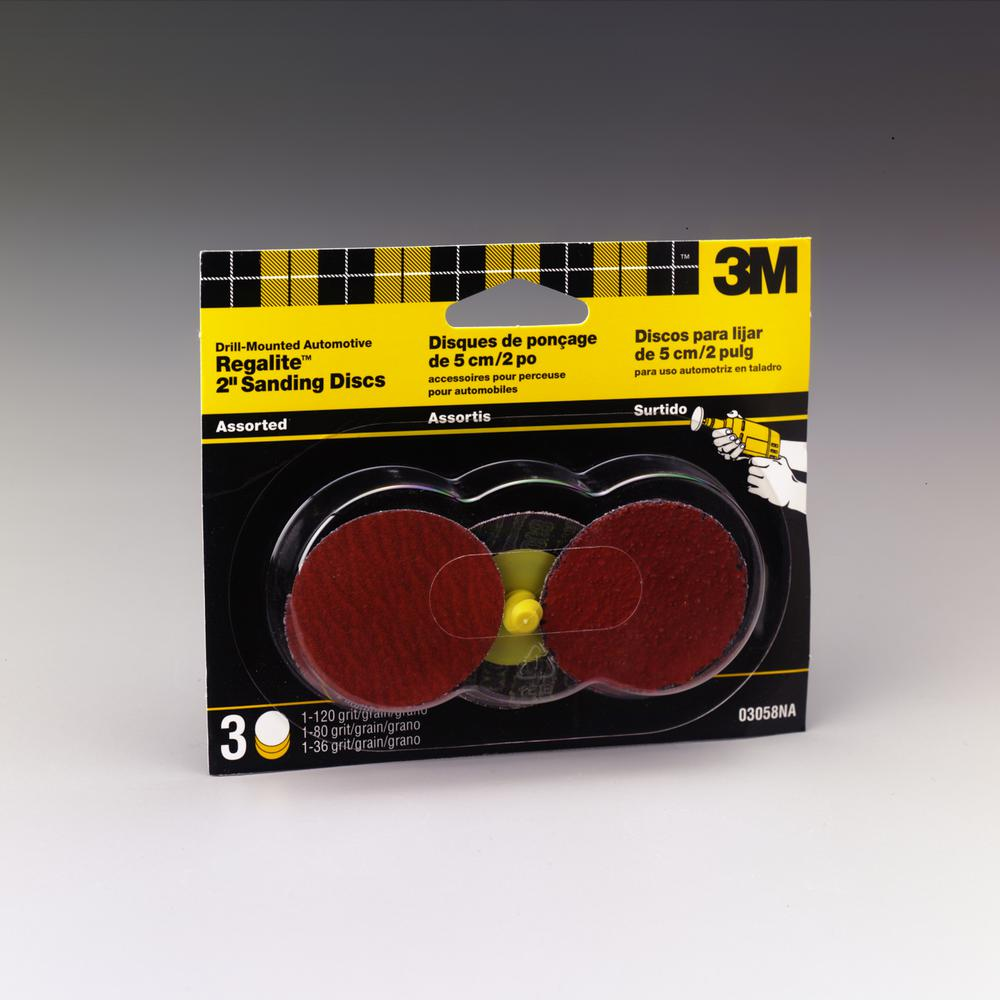 3M Sanding Discs 2 In Assorted Grit 120 80 36