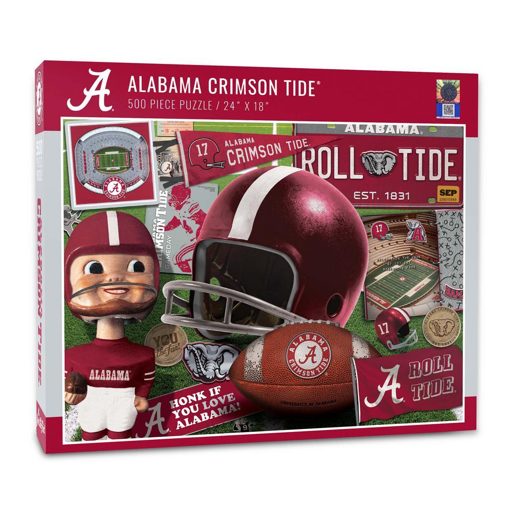 NCAA Alabama Crimson Tide Retro Series Puzzle (500-Pieces)