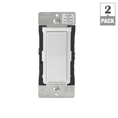 Decora Smart with Z-Wave Technology 15 Amp Switch, White/Light Almond (2-Pack)