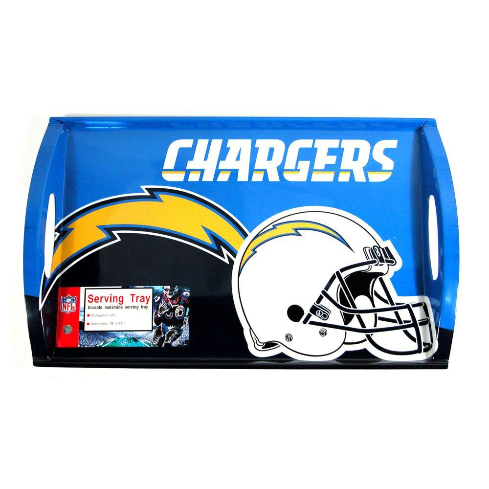 Siskiyou Sports NFL San Diego Chargers Melamine Serving Tray-DISCONTINUED