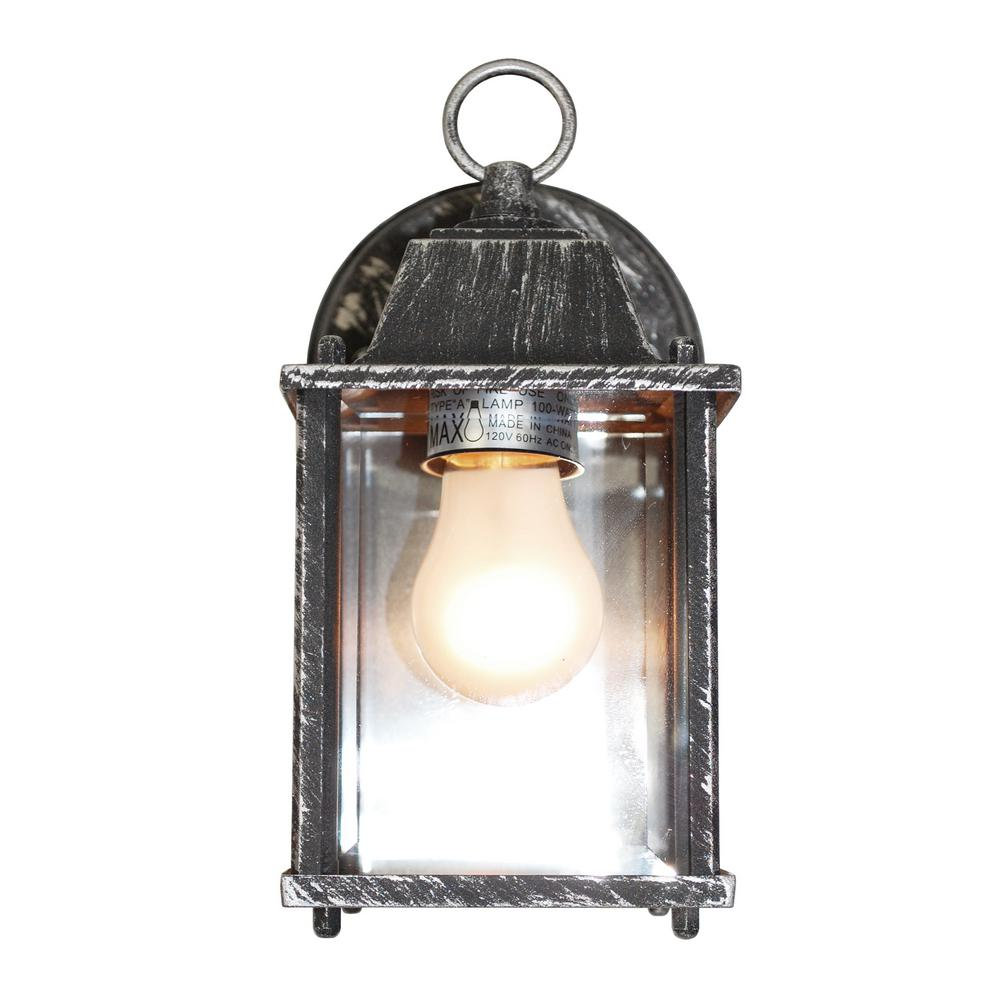 Patrician 1-Light Swedish Iron Outdoor Wall Mount Lantern