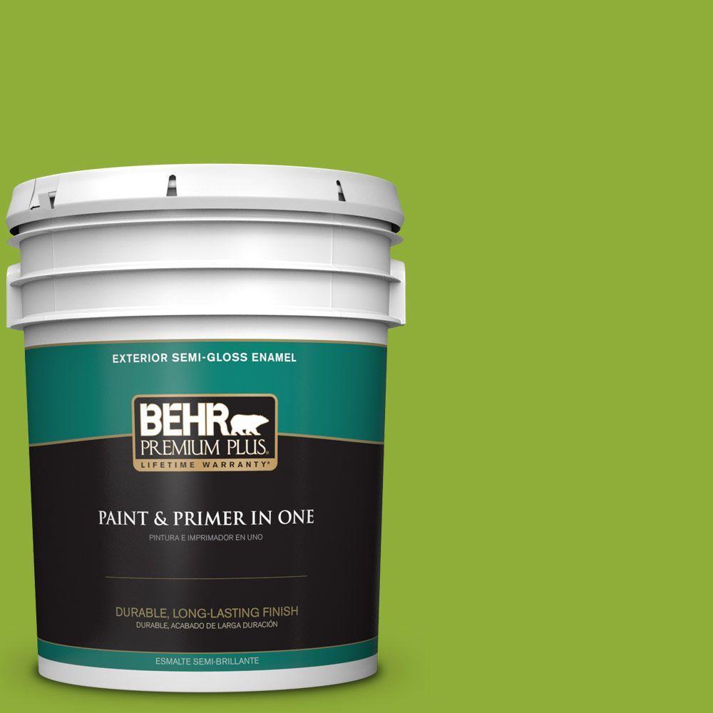 5-gal. #420B-6 New Green Semi-Gloss Enamel Exterior Paint