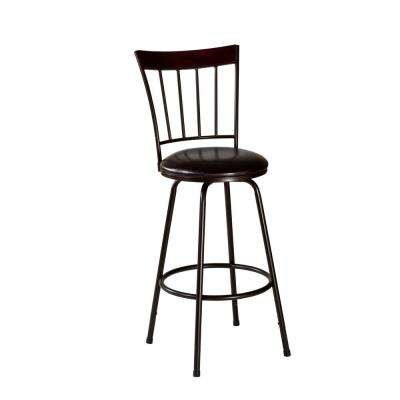 Cantwell 26 in. Brown Swivel Cushioned Counter Stool