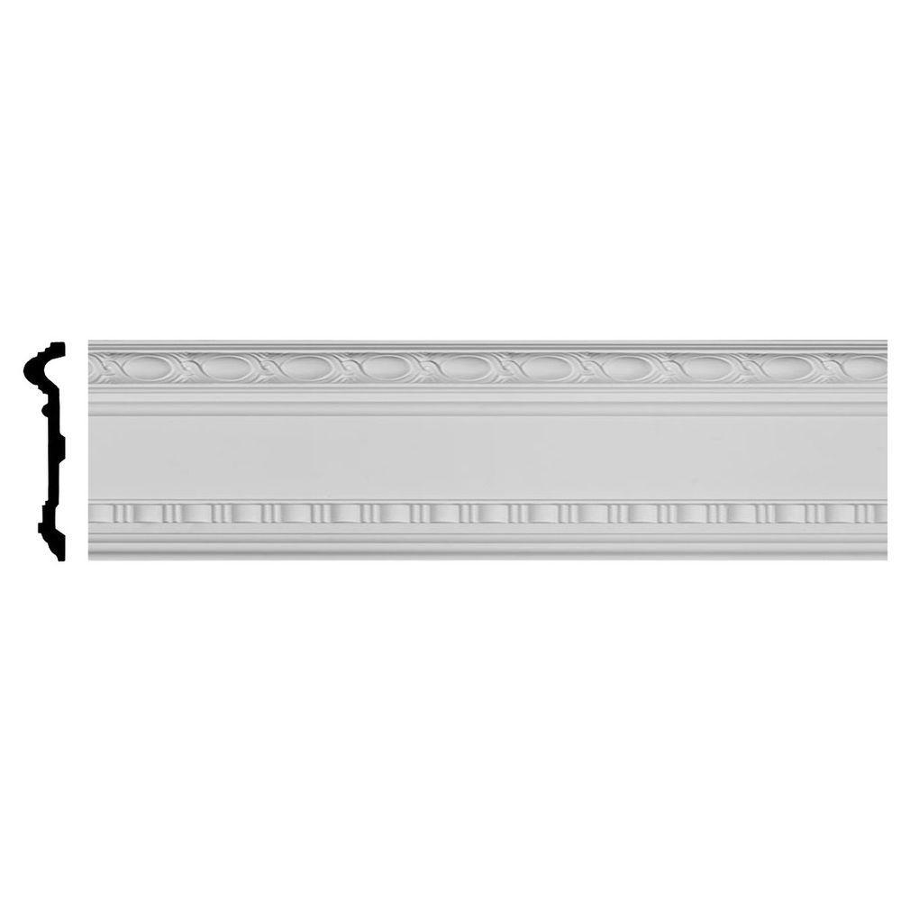 Ekena Millwork 1-3/4 in. x 9-3/8 in. x 94-1/2 in. Polyurethane Wakefield Panel Moulding