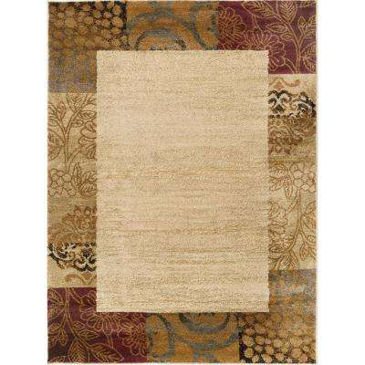 Elegance Ivory 7 ft. 6 in. x 9 ft. 10 in. Transitional Area Rug