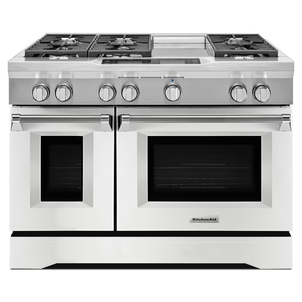 KitchenAid 48 In. 6.3 Cu. Ft. Dual Fuel Range Double Oven With Convection