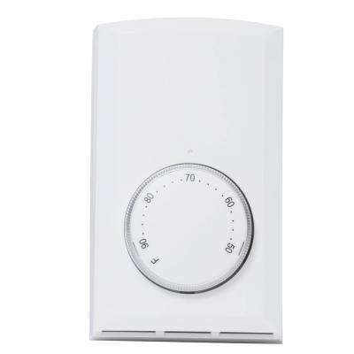 Single-Pole 22 Amp 120-Volt/240-Volt Wall-Mount Mechanical Non-Programmable Thermostat in White