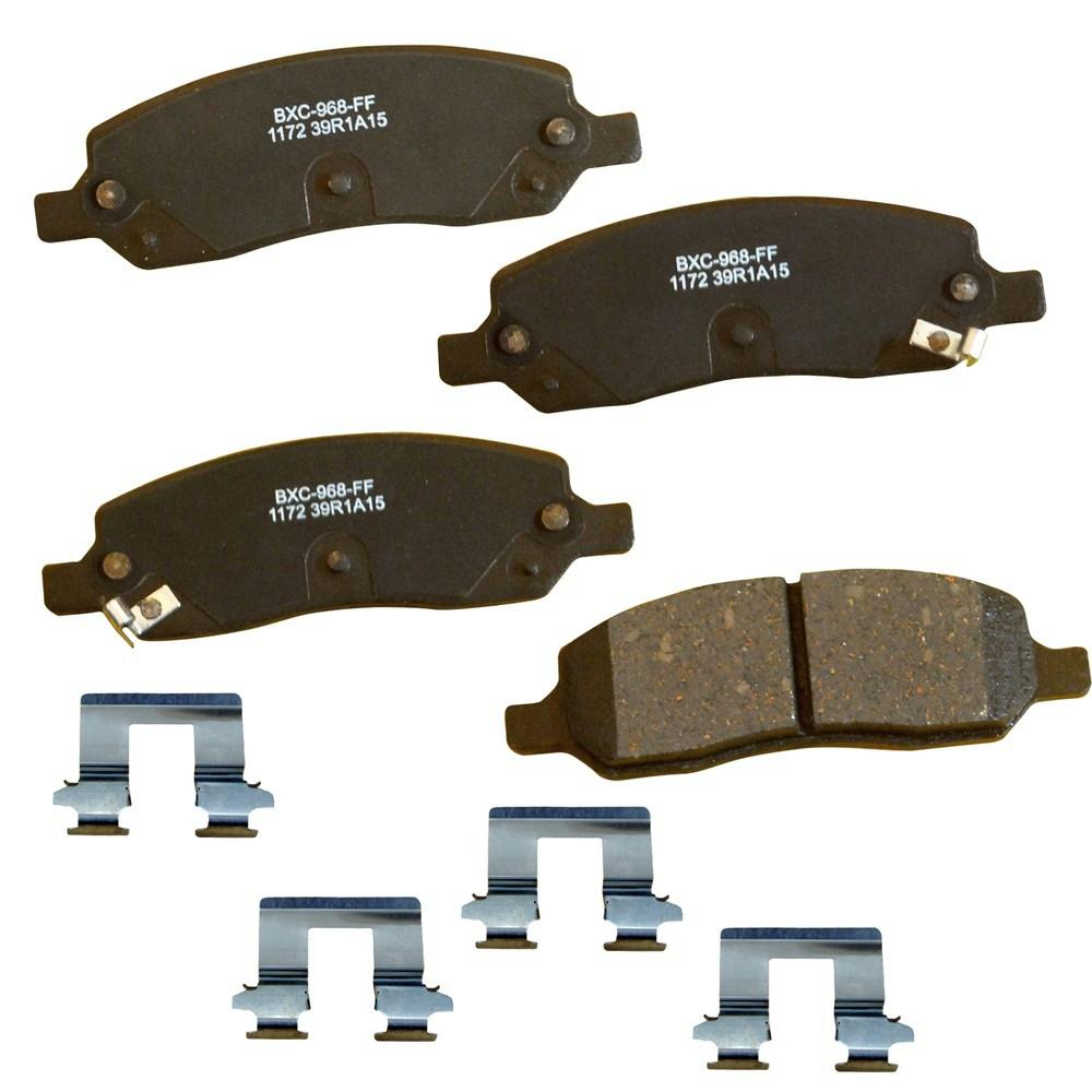 Wagner QuickStop ZD1432 Ceramic Disc Pad Set Includes Pad Installation Hardware Front