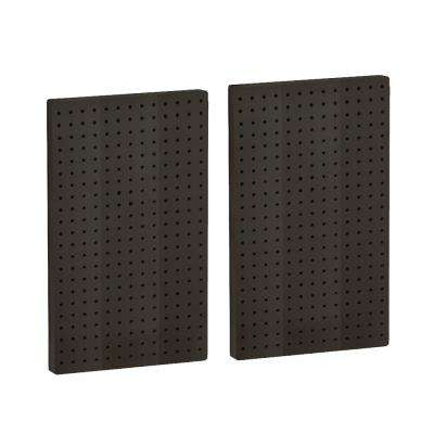 22 in H x 13.5 in W Pegboard Black Styrene One Sided Panel (2-Pieces per Box)