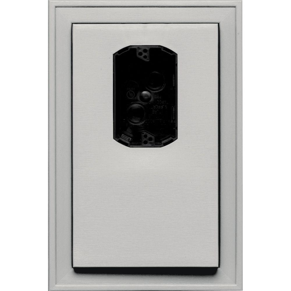 Builders Edge 8.125 in. x 12 in. #030 Paintable Jumbo Electrical Mounting Block Offset