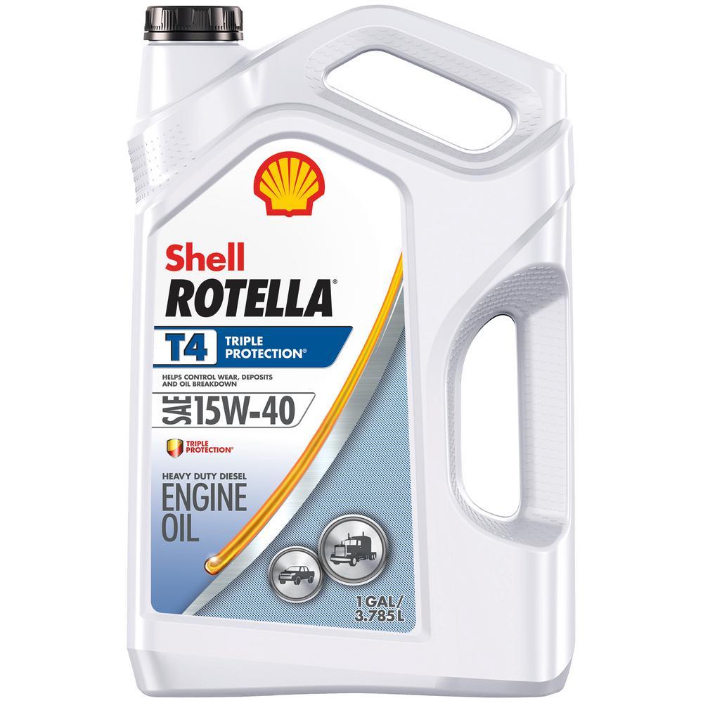 Rotella T4 Triple Protection 15W-40 Diesel Motor Oil -1 Gal.