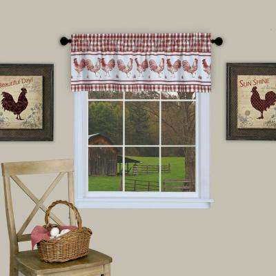 Barnyard 14 in. L Polyester Valance in Burgundy