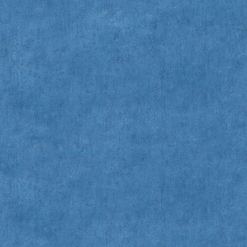 The Wallpaper Company 56 sq. ft. Blue Crackle Faux Texture Wallpaper