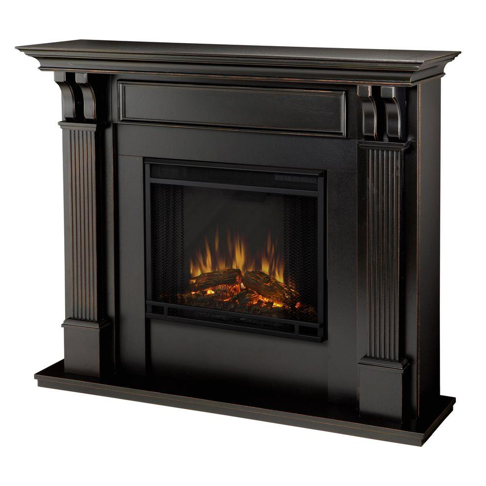 Visit The Home Depot to buy Real Flame Ashley Indoor 45.5 in. Blackwash Electric Fireplace 7100E-BW