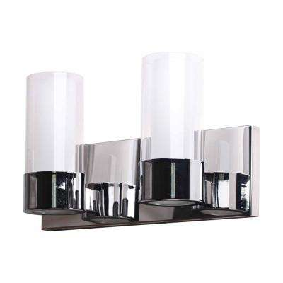 Martigny 2-Lights Chrome Bath Light