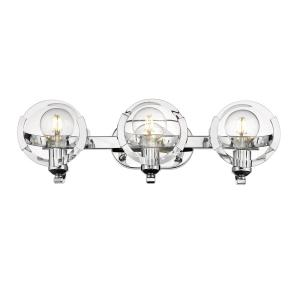 Amari 3-Light Chrome Bath Vanity Light