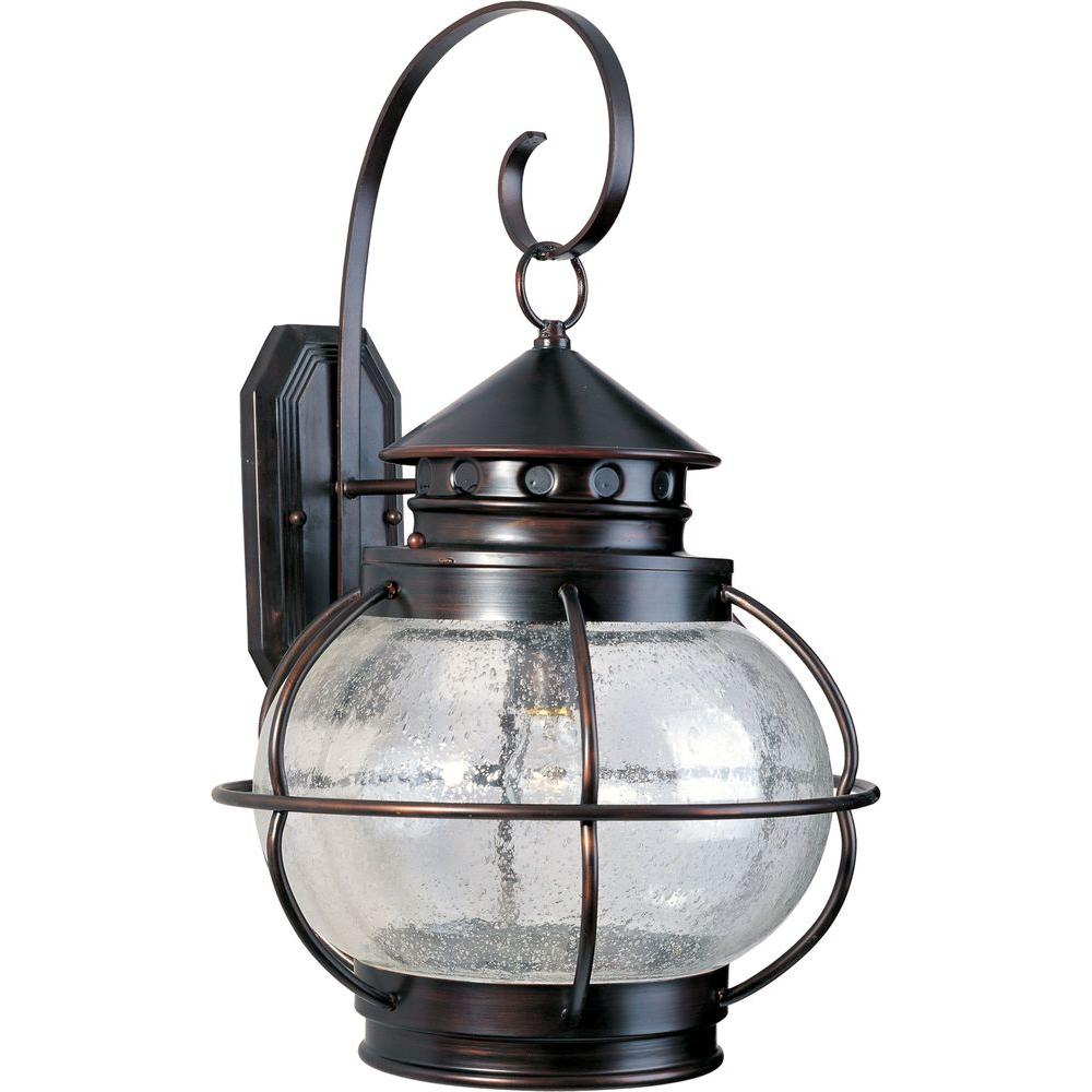 Maxim Lighting Portsmouth 1 Light Oil Rubbed Bronze Outdoor Wall Lantern Sconce