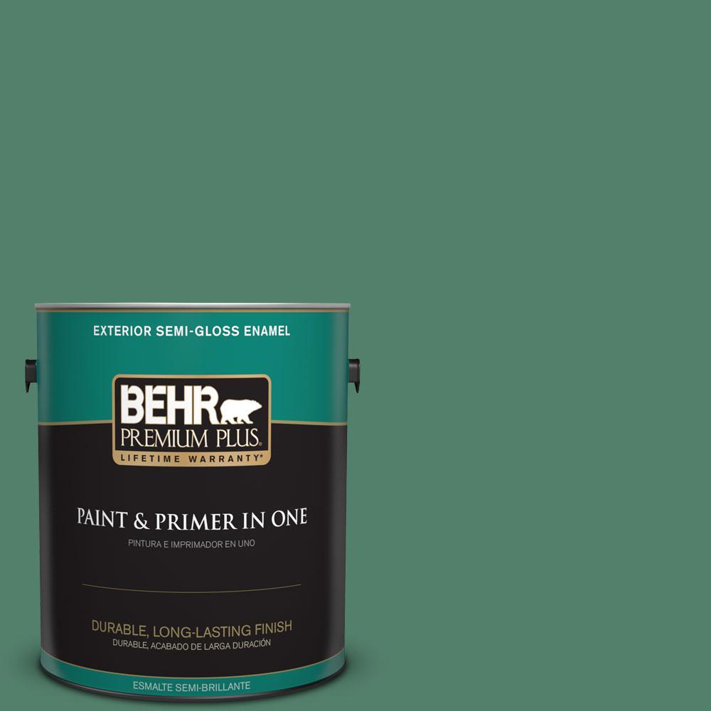 1-gal. #M430-6 Park Bench Semi-Gloss Enamel Exterior Paint