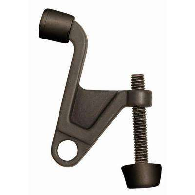 2-1/4 in. x 2-1/8 in. Oil-Rubbed Bronze Jumbo Hinge Pin Door Stop