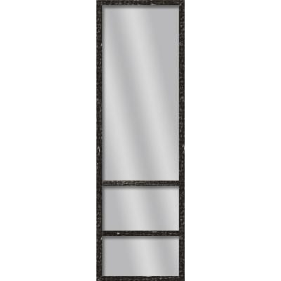 Large Rectangle Stone Gray Art Deco Mirror (49.75 in. H x 13.73 in. W)