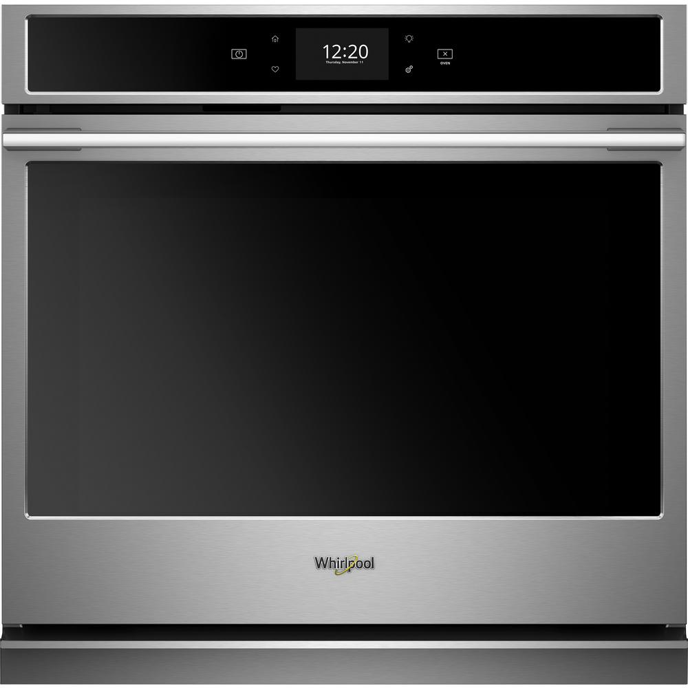 Whirlpool 30 in. Smart Single Electric Wall Oven with True Convection Cooking in Fingerprint Resistant Stainless Steel