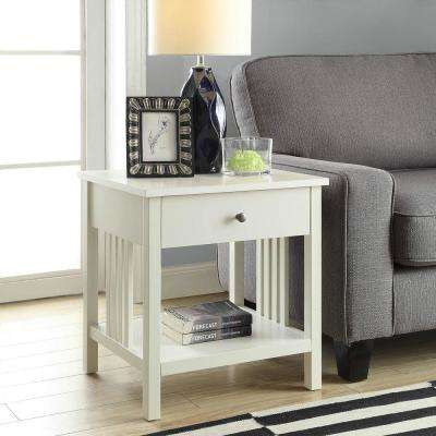 Mission White Side Table