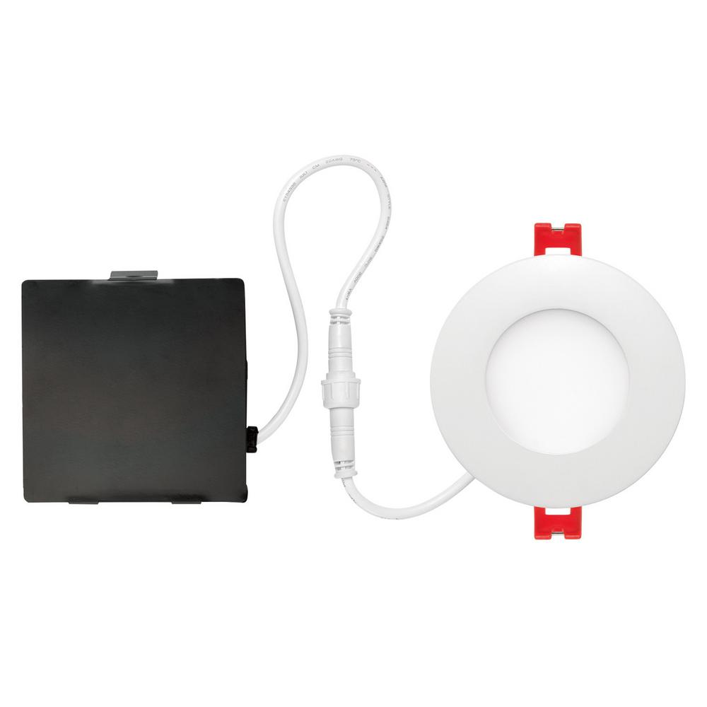 Globe Electric Slimline 3 In White Integrated Led Recessed Kit Wiring Exterior Soffit Lights