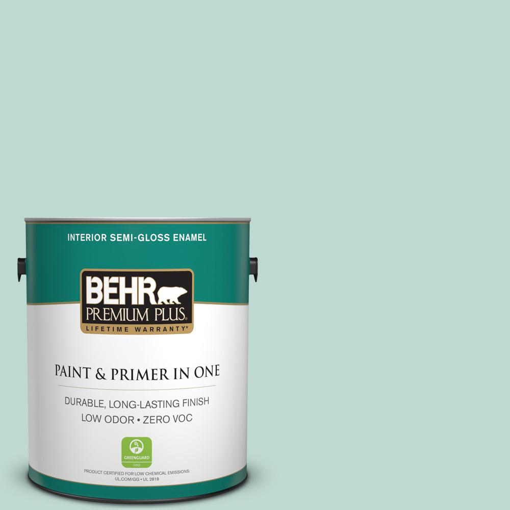 1-gal. #M440-2 Serene Breeze Semi-Gloss Enamel Interior Paint
